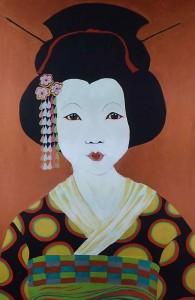 Art by Zeta an original painting Metallic Geisha