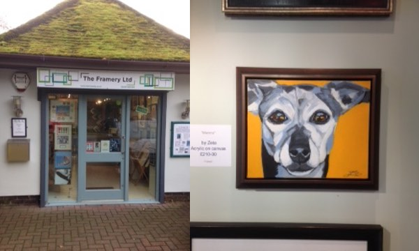 Mimms at The Framery Kimbolton Art by Zeta