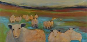 Art b y Zeta an original painting Sheep1